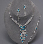 CLEAR Marquis Design Butterfly Necklace Set