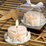 Starfish Design Favor Saver Candle - Blue