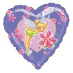 18 Tinkerbell Heart Shape Mylar Balloon