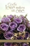 God's Love Lavender Rose Blank Wedding Programs - Pkg 100