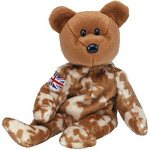Ty Beanie Baby Bear UK HERO with Arm Flag