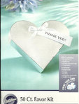 Silver Heart Favor Boxes - Pkg 50
