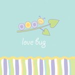 Love Bug Beverage Napkin - Pkg 16